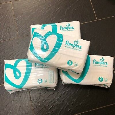 4x 40 Pampers Premium Protection baby Nappies Size 2 4-8kg 9-18lbs (160 nappies)