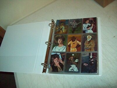 Star Wars 1996 Topps Finest 90 card set Complete in binder near mint or better