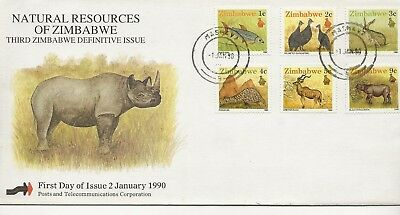 FDC - Zimbabwe - Natural Resources of Zimbabwe - 1990 - (2661) (X)