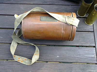 Unique WW2 Home Front named Fire Guards Metal Gas mask Container FGHD J.W.FORD