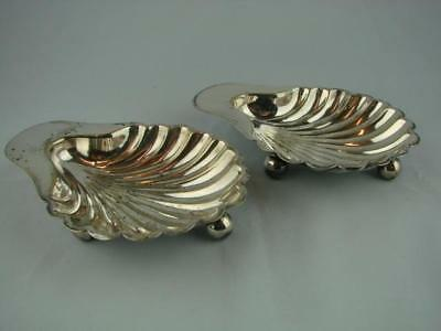 Pair Of Mappin & Webb Princes Plate, Silver Plated Hors D' Oeuvres Shell Dishes