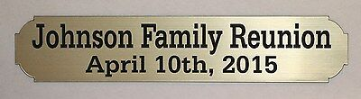 Custom Engraved Nameplate Name Plate Plaque 1 X 5