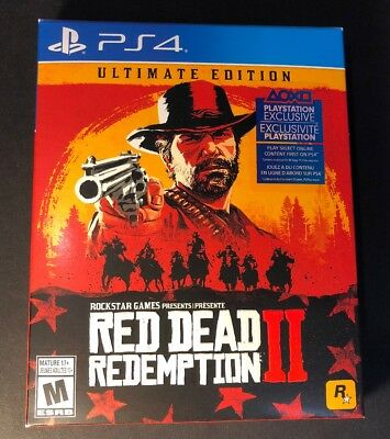 Red Dead Redemption 2 ULTIMATE Edition [ STEELBOOK Package ] (PS4) NEW