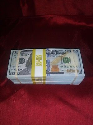 Prop Money NEW $50,000 Highly Realistic Filler Prop Stack Great for Filming