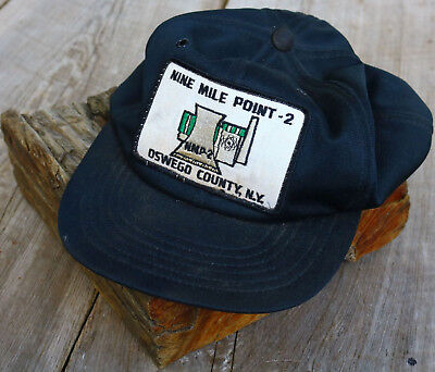 Hat baseball cap Nine Mile Point 2 OSWEGO NY Nuclear Plant Patch (on old hat)