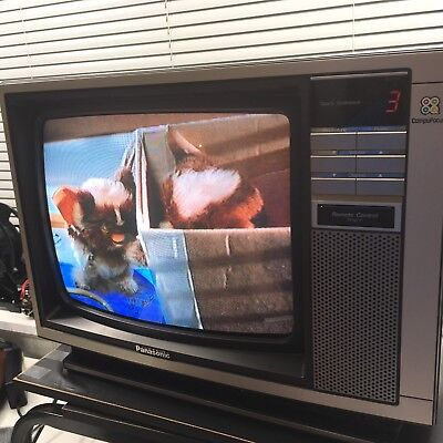 Vintage Panasonic Color Television Set 1984 13-Inch Retro Rare Tv Mint Ctf 1395R
