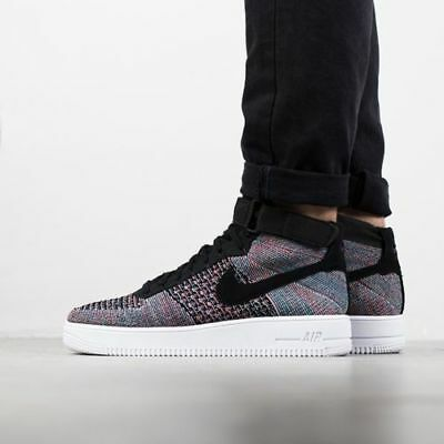 new style b6114 fe213 NIKE MENS AIR Force 1 Ultra Flyknit MID Multi Color AF1 817420 602 Size 11.5