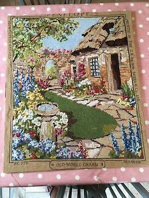 Completed Large  Needlework Tapestry 'penelope' 'old World Charm'