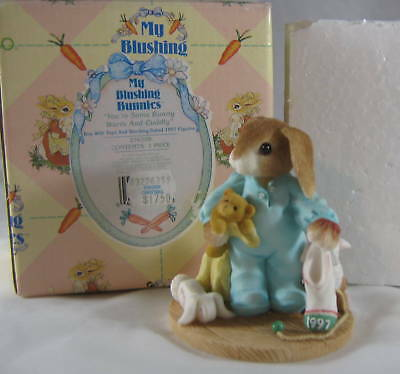 Enesco My Blushing Bunnies You're Some Bunny Warm Cuddly 1997 Toys Stocking Box