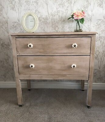 Chest Of Drawers/Dressing Table Vintage Upcycled Shabby Chic Refurbished