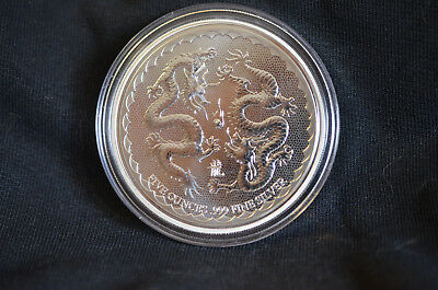 5 oz Silber Münze Double Dragon Niue 2018