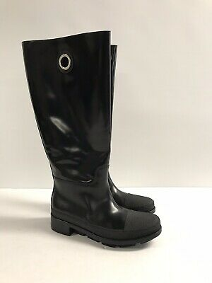 meilleure sélection f8495 ef890 L-3923999 NEW BALENCIAGA Cuir Black Leather & Rubber Boot Shoe US 8 Marked  38
