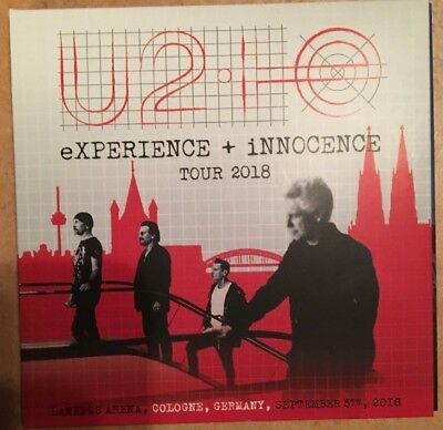 "U2 : ""eXPERIENCE + INNOCENCE Tour""  ( Cologne 2018) (RARE 2 CD)"