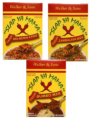 Slap Ya Mama Cajun Dinner Mixes  Red Beans & Rice, Jambalaya, or Gumbo