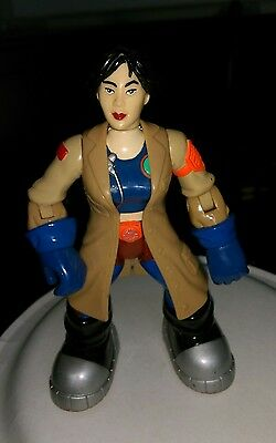 2002 Fisher Price Rescue Heroes Heros Action Figure Female Asian Scientist Dr