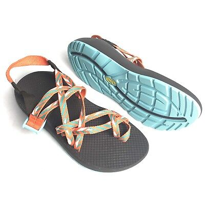 fb3b6bdbe5ef Chaco Womens Sport Sandals ZX 2 ZX2 Classic Blue Teal Orange Vibram Size W 8
