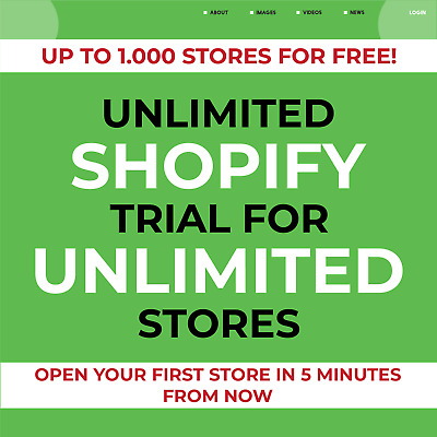 UNLIMITED Shopify Trial For UNLIMITED Stores | All Features | INSTANT DELIVERY