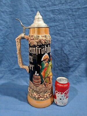"Gerzit W. Germany Beer Stein (LARGE...16"" TALL)"