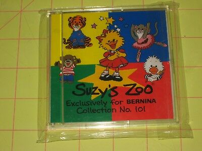 Brother Bernina Deco No. 101 SUZY'S ZOO Embroidery Card NEW