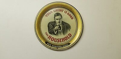 graphic old tin litho tip tray advertising The Household Furnishing Co