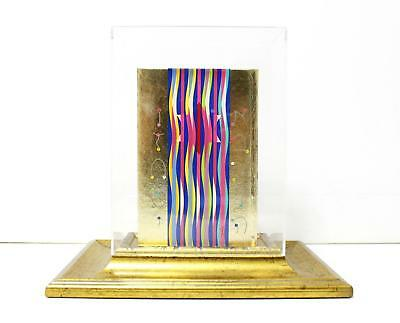Yaacov Agam Serigraph on Bible With a fine wooden stand - Golden Bible