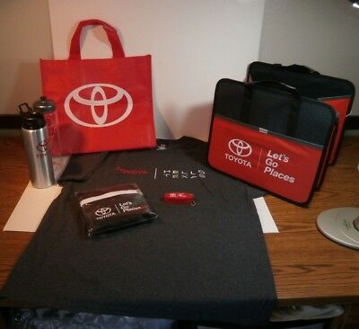 "Toyota ""Hello Texas"" XL Shirt, Water bottle, Tote Bags, Trunk Carrier, Keychain"