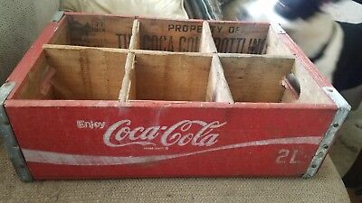 Red Coca Cola Wooden Crate 2L Complete Charleston Sc