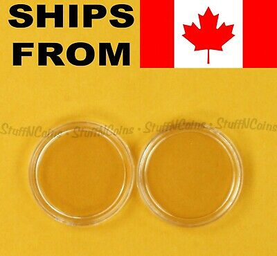 2x RIMLESS CANADA COIN CAPSULES - PICK A SIZE **NO TAX**