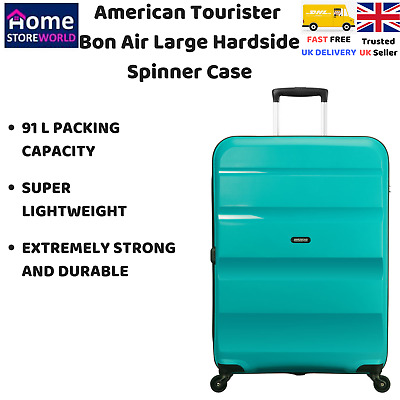 American Tourister Bon Air 91L Large Hardside Spinner Case in Blue, Durable