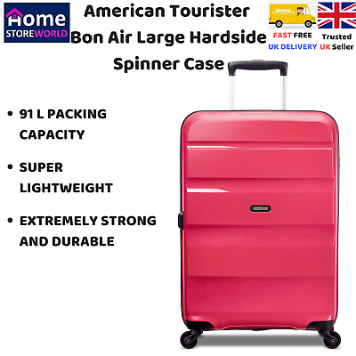 American Tourister Bon Air 91L Large Hardside Spinner Case in Pink, Durable