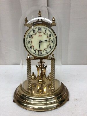 Vintage Ornate Brass Kundo 400 Day German Anniversary Clock NO Key (lh1480)