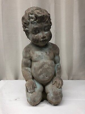 Vintage Concrete Cherub Yard Decoration (lh1525)