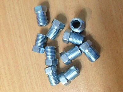 """Brake Pipe Tube Nuts 10Mm X1 Thread To Suit 3/16"""" Brake Pipe - 10 Pack -"""