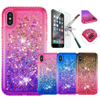 Girls Bling Glitter Liquid Quicksand Case For iPhone 5S 6S 7 8 Plus XS MAX XR