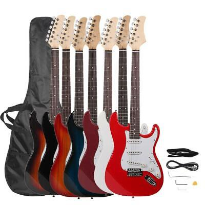 "New 39"" Basswood High Quality Electric Guitar with Bag Accessories for Beginner"