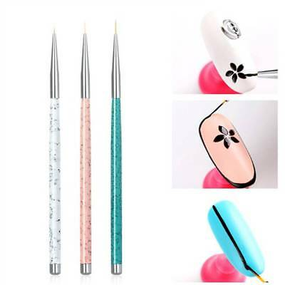 3Pcs/Set Nail Art Liner Brush Ultra-thin Line Drawing Pen Manicure Tool Tips