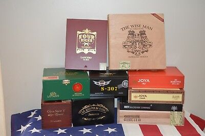 Cigar Boxes Mixed Lot A, 10 boxes great condition.