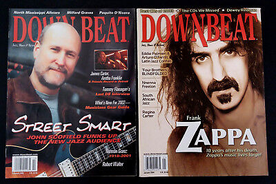 Frank Zappa Down Beat Magazine 2004 & Down Beat Mag John Scofield 2002 Lot of 2