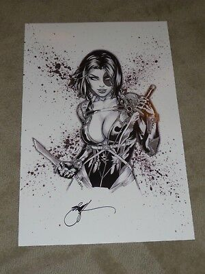 LA COMIC CON DOMINO ART PRINT BY ERIC EBAS BASALDUA SIGNED 11x17