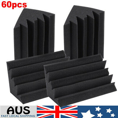 60X Studio Acoustic Foam Corner Bass Trap Sound Absorption Treatment Proofing AU