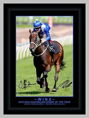 Winx Bowman Waller Signed Horse Racing Action Photo Print Or Framed