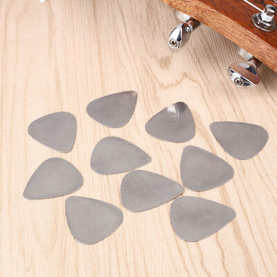 10Pcs Cool Stainless Steel Metal Picks Plectrums for Electric Guitar Supplies
