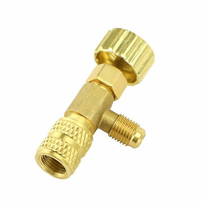 """R22 Refrigeration Charging Valve Adapter 1/4"""" SAE Male to 1/4"""" SAE Famale"""
