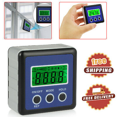 Digital LCD Protractor Magnetic Level Box Inclinometer Gauge Angle Finder 4*90°