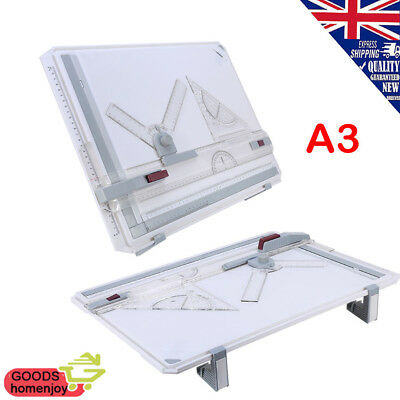 A3 Drawing Board Art Architecture Table Office Angle Adjustable Magnetic Bar Kit