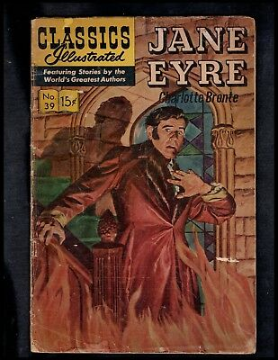 Classics Illustrated #39 Poor  Hrn167  (Jane Eyre) Free Shipping On $15 Order!