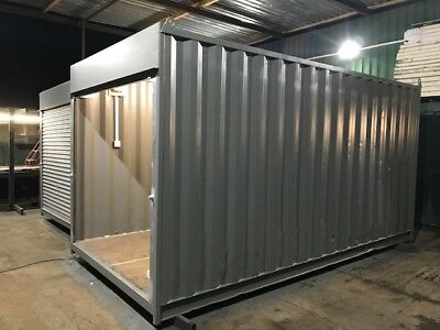 20ft x 8ft Roller Shutter Shipping With Shelves Container - North Wales