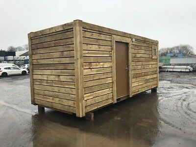 20ft x 8ft High Cube 1 Trip Cladded Shipping Container - North Wales