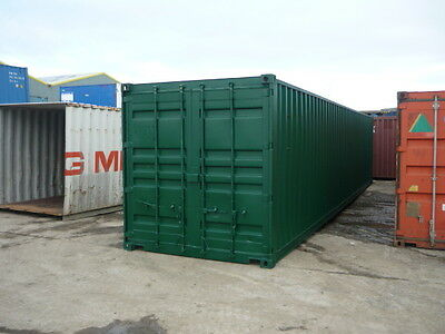 40ft x 8ft Ply Lined Shipping Container - North Wales