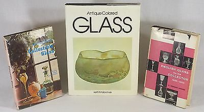 Three Antique Glass Books: Colored Glass, English Glass + Collecting Glass